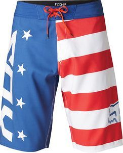 Fox Red White and Blue Boardshort