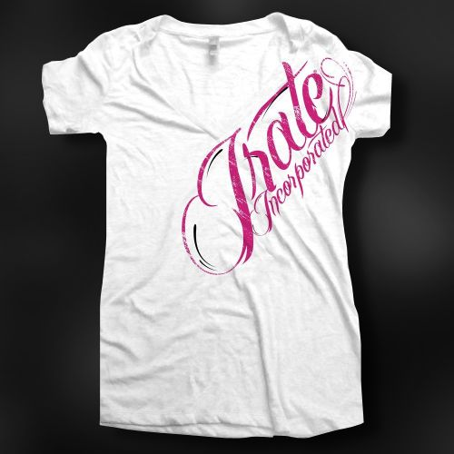 Irate Moto Swirl Burn Out Vneck