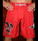 Punishment Athletics Red Submitter Shorts